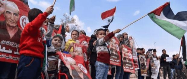 Pengungsi Palestina di Suriah Gelar Aksi Solidaritas untuk Maher Al-Akhras