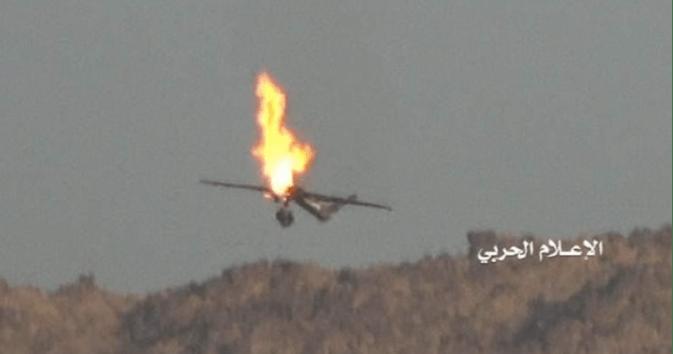 TOP! Yaman Tembak Jatuh Drone Saudi dengan Rudal Rahasia