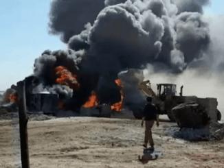 Drone Tak Dikenal Serang Kilang Minyak Curian Milik Militan