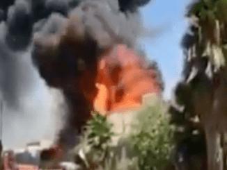 Video Kebakaran Hebat di Kilang Minyak Haifa Israel