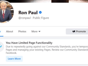 "Facebook Blokir Akun Mantan Senator AS ""Ron Paul"""