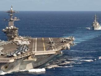 Jet Tempur China Lakukan Serangan Simulasi ke Kapal Induk AS