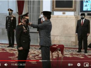 Jokowi Resmi Lantik Jenderal Listyo Sigit Prabowo Sebagai Kapolri
