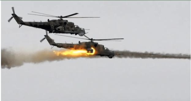 Video: Helikopter Rusia Buru Teroris ISIS di Suriah Tengah