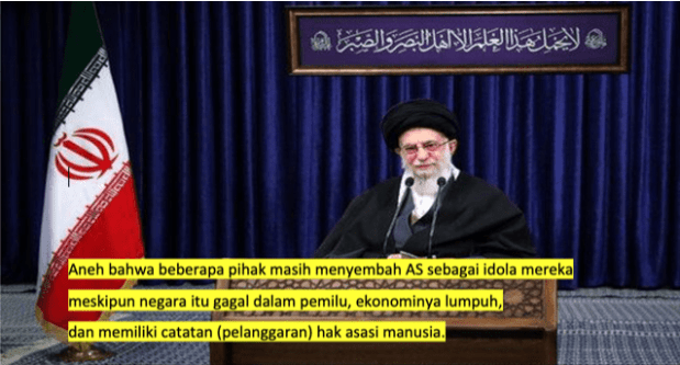 Komentar Pedas Ali Khamanei Soal Kerusuhan di AS