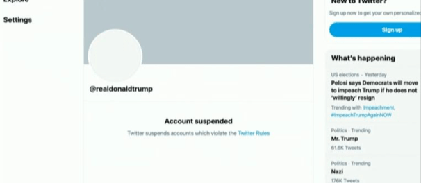 Twitter Tutup Permanen Akun Donald Trump