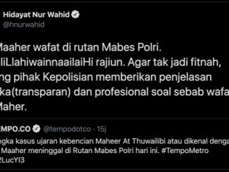 """Cuitan """"Provokasi"""" HNW, Tengku Zul dan Novel Baswedan Soal Kematian Maaher Ath-Thuwailibi"""