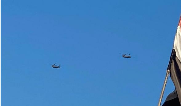 Patroli Besar-besaran Drone dan Helikopter AS di Al-Anbar