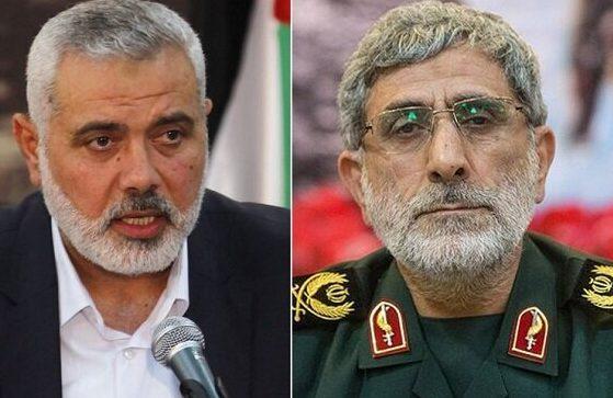 Komandan Pasukan Quds dan Pimpinan Hamas Diskusikan Perkembangan di Gaza