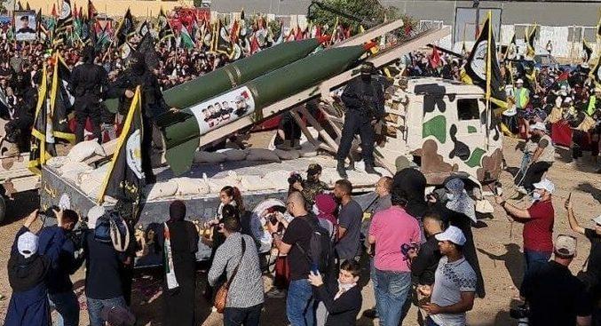 Puluhan Ribu Orang dan Jihad Islam Palestina Gelar Perayaan Kemenangan