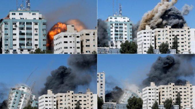 Rudal Israel Hancurkan Kantor Media Internasional di Gaza