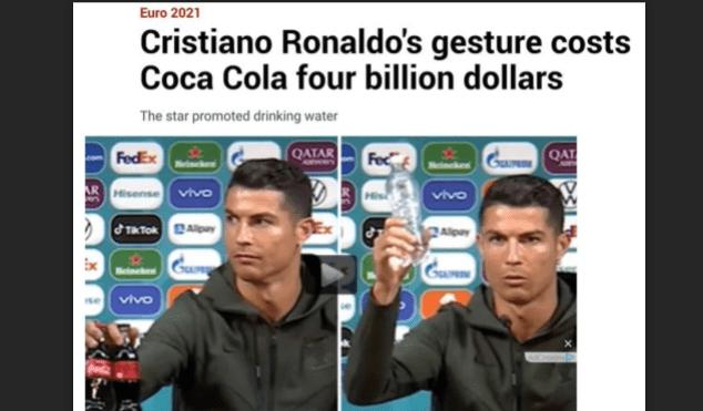 Coca-Cola Tanggapi Sikap Ronaldo Singkirkan Botol Saat Konpres