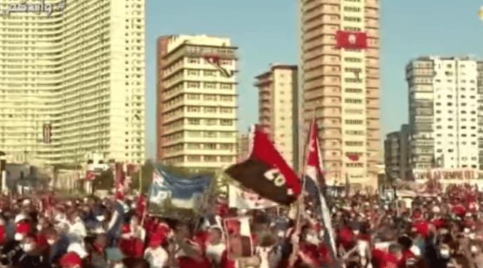 Rakyat Kuba Gelar Demo Dukung Pemerintah dari Teror AS