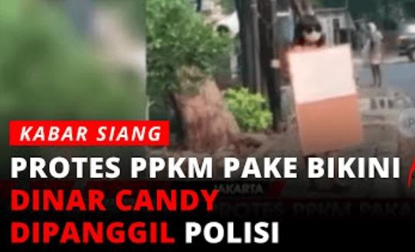 Protes PPKM Pakai Bikini, Polisi Tangkap Artis Dinar Candy