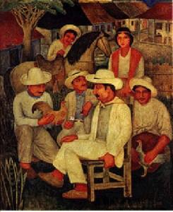 Guajiros, obra del pintor cubano Eduardo Abela de 1938, inspirada en la vida en el campo.