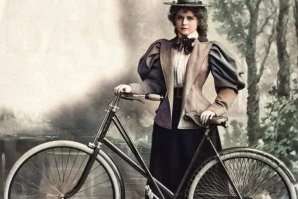 La primera cubana en bicicleta