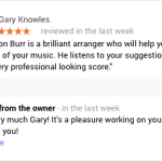 Customer Review – Piano and Vocal arrangements