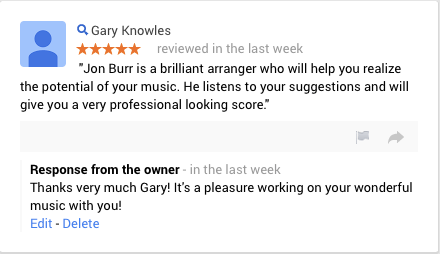 Review of Arranger for Hire's Piano/Vocal arranging