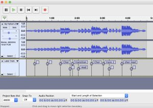 Bookmarks in Audacity
