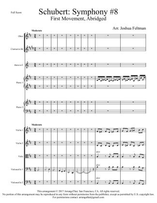 Schubert Unfinished – Score and parts-page-001