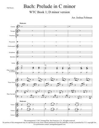 Bach Prelude C Minor