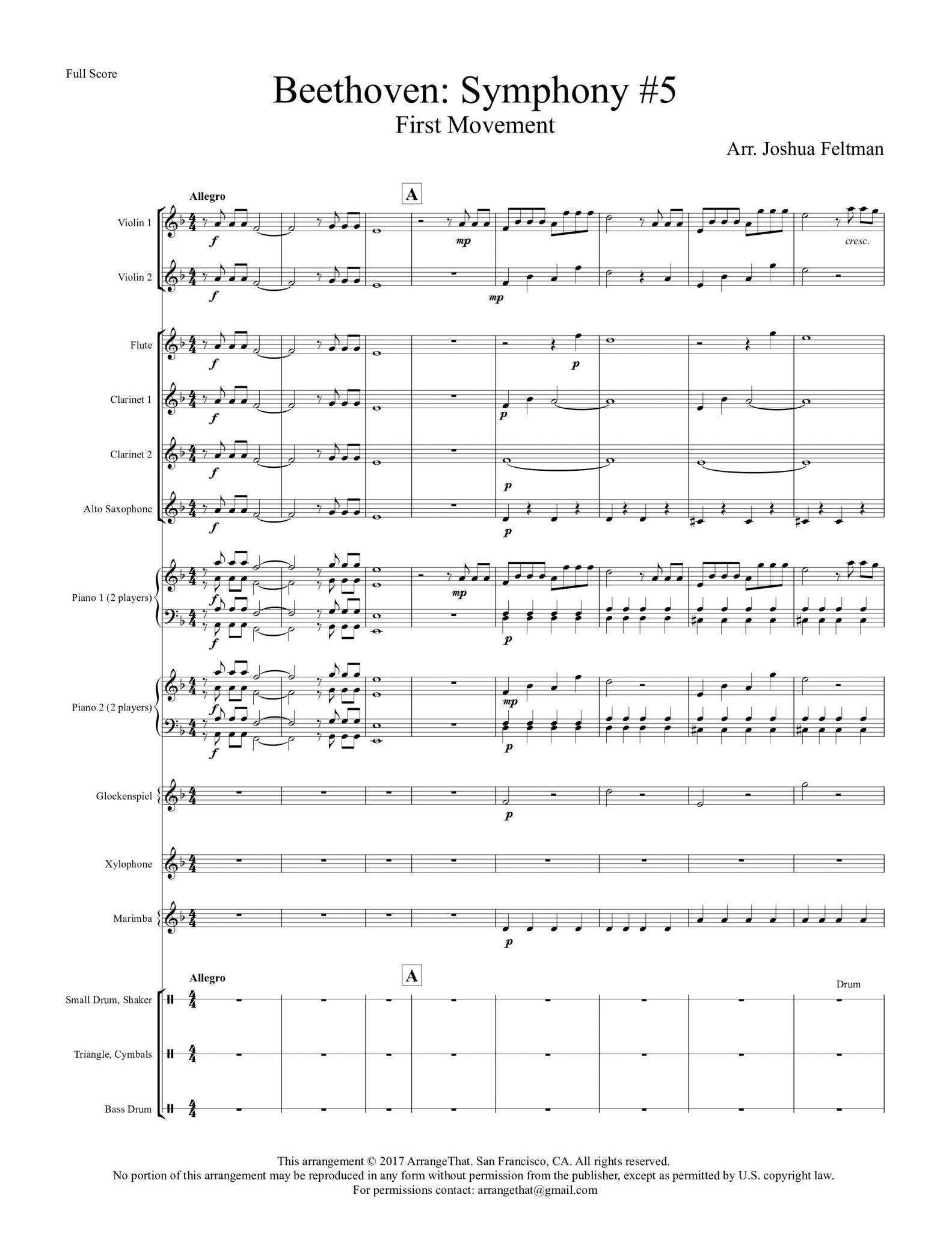 Beethoven: Symphony #5, First Movement