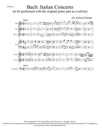 Bach Italian Concerto