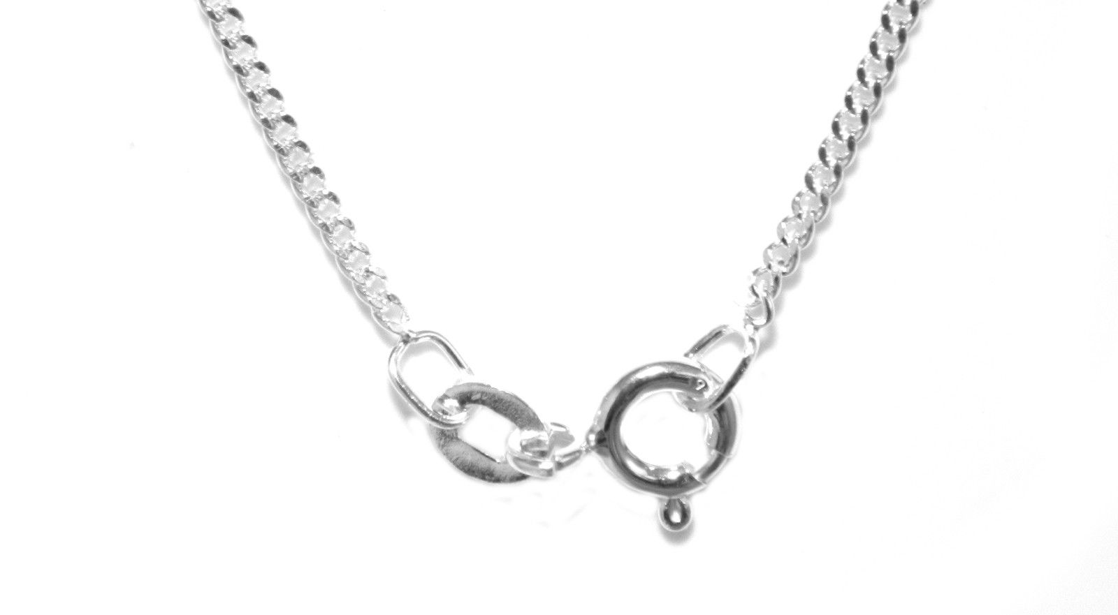 18 Inch Chain 2mm Gauge Curb Style In Sterling Silver