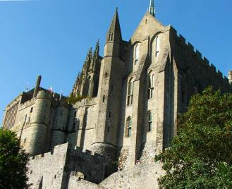 Vista de la abadía desde uno de los laterales