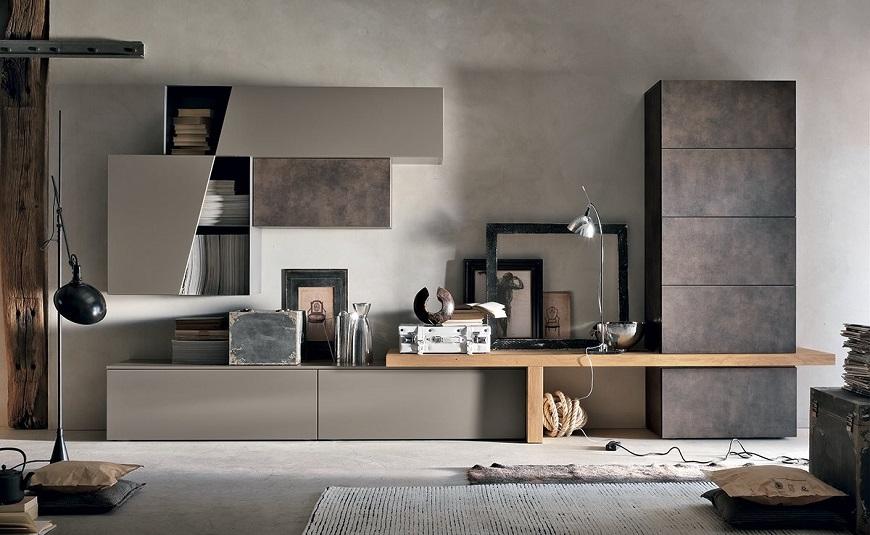 Le caratteristiche delle pareti per il soggiorno moderno. Arredamento Moderno Roma Mobili Moderni Roma