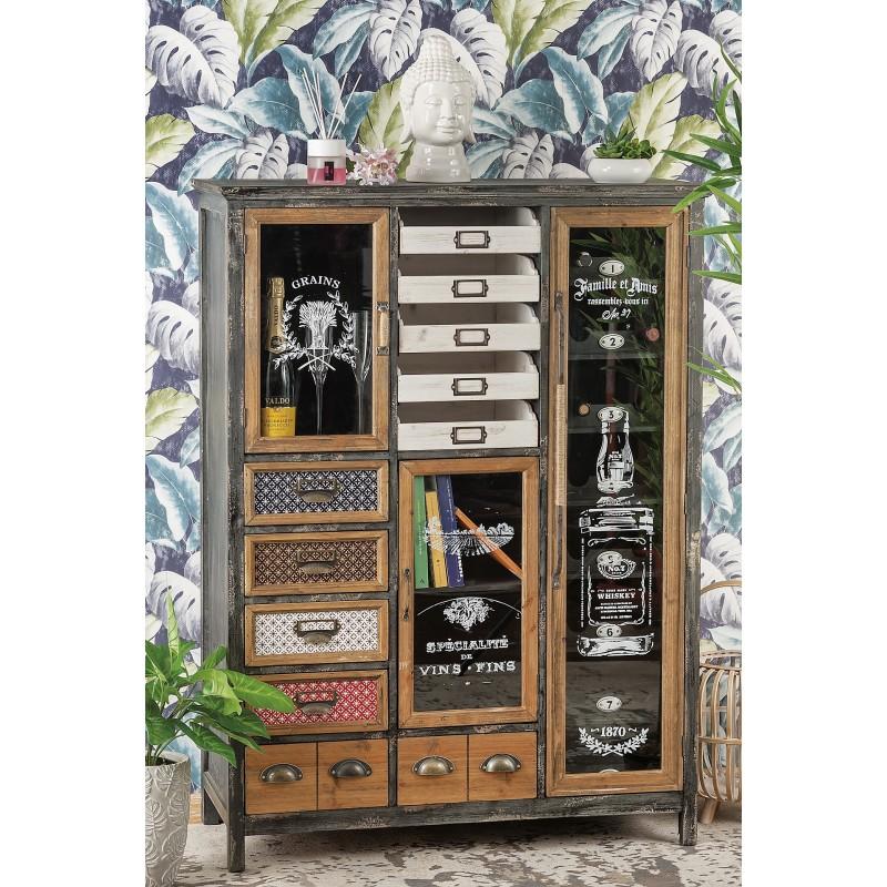 Scopri (e salva) i tuoi pin su pinterest. Arredamento Design Mobile In Legno E Metallo Nuovo Art 51666 Consegna Gratis Arredamentishop It