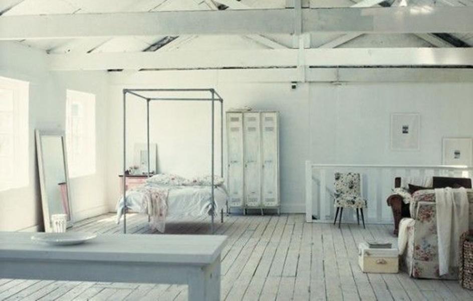 Loft in minimal shabby chic arredamento shabby for Stile minimal chic