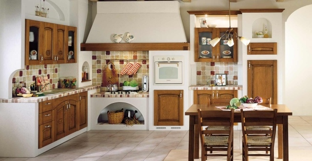 25 idee per arredare la cucina di campagna con il country chic - Isola per cucina rustica ...