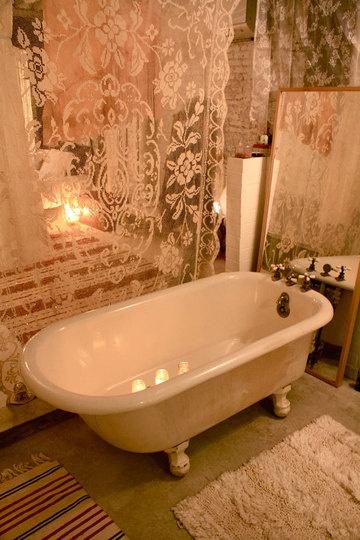 20 modelli di vasche colorate per il tuo bagno shabby chic (foto)
