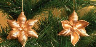 Idee albero di Natale fai da te: decorazioni in pasta secca fiori