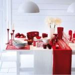 Arredo natalizio: idee per allestire la tua casa durante le feste tavola natalizia rossa e bianca
