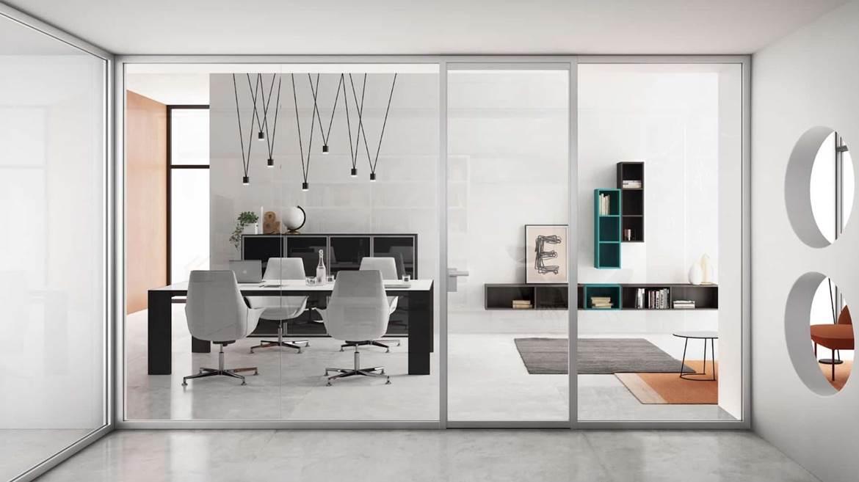 Cerca tutti i prodotti, i produttori ed i rivenditori di pareti mobili in vetro: Parete Divisoria In Vetro E Alluminio Grace Di Doal Arredamento Design