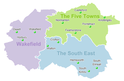 removals wakefield area map