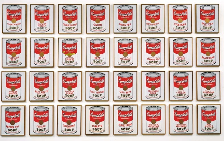 Image result for andy warhol campbell soup
