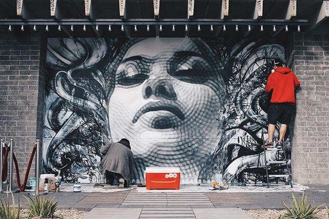 El mac x david choe mural collaboration in phoenix for David choe mural