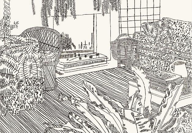 "c35f31b03d4cf8714fb9684019f200ba-628x435 Previews: Jonas Wood – ""Prints"" @ Gagosian (New York) Random"