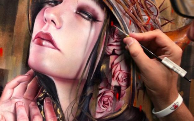 "PAINLESS-Process_detail_pic-698x435 Previews: Brian Viveros – ""The Good, The Bad & The DIRTY"" @ Spoke Art (NYC) Random"