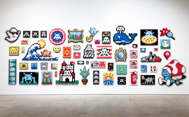 """IMG_0875-698x435 Previews: Invader – """"Into The White Cube"""" @ Over The Influence (LA) Random"""