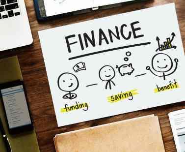 finance illustration paper on table