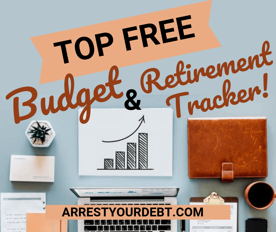 Check out my top free budget and retirement tracker that keeps me on track!