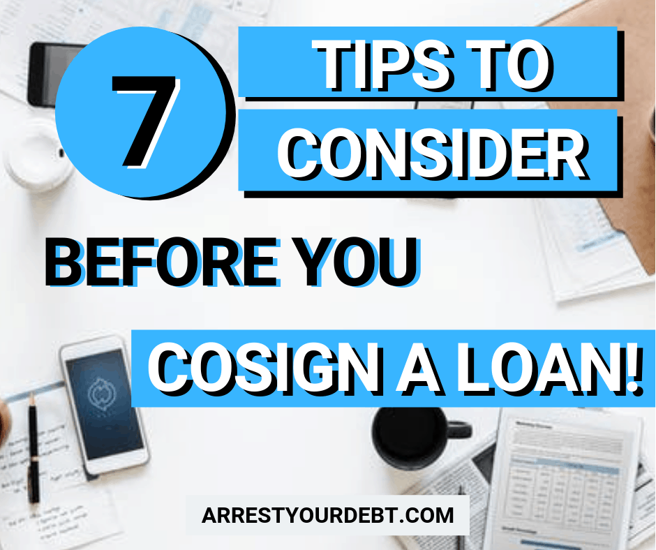 7 Tips To Consider Before You Cosign A Loan