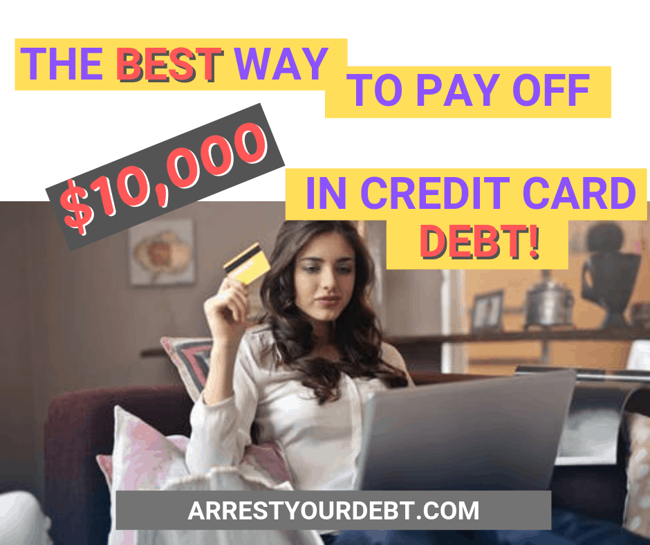 how to pay off 10000 credit card debt