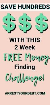 save money with this 2 week free money finding challenge