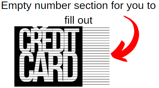 empty section for numbers