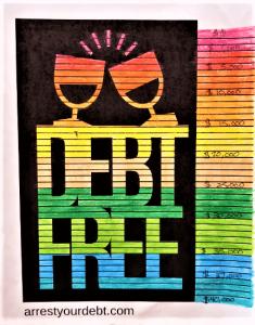 debt free coloring sheet